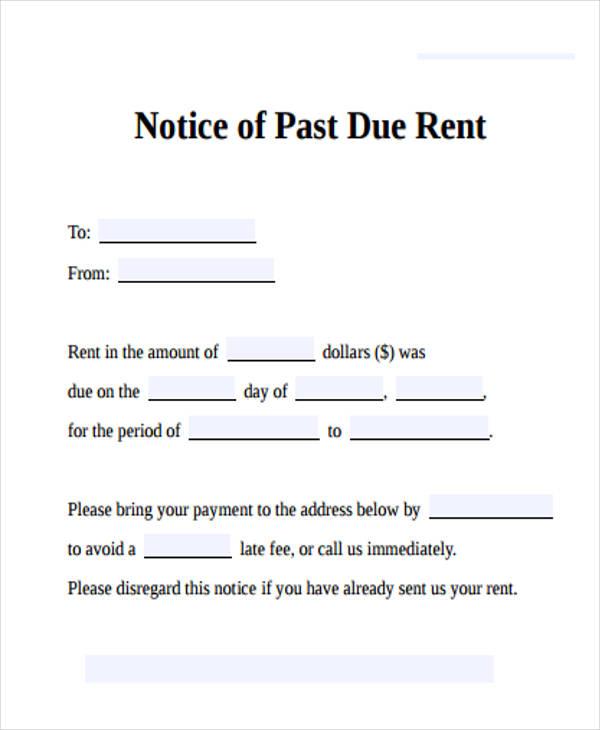rent past due letter - Goalgoodwinmetals