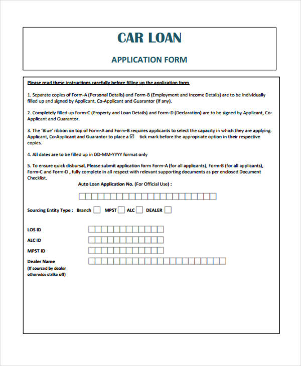 Loan Agreement Form Example - 65+ Free Documents in Word, PDF - loan form sample