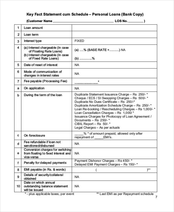 Free Loan Agreement Form - private loan agreement template