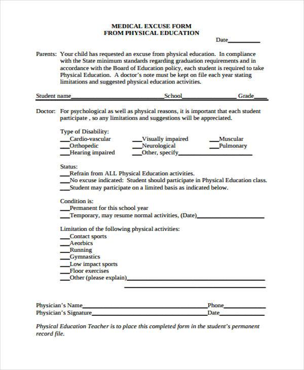 ... School Medical Form 5 Kindergarten Registration Form Concussion   Blank Medical  Forms ...