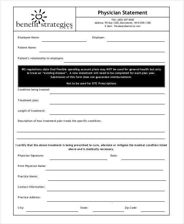 38 Printable Statement Forms - statement form in pdf