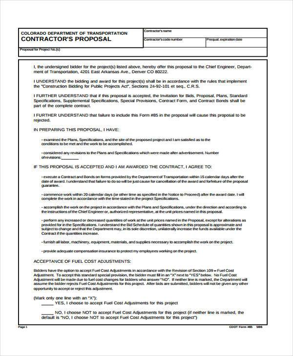 Contract Proposal Example Interior Designer Contract Proposal - interior design proposal template