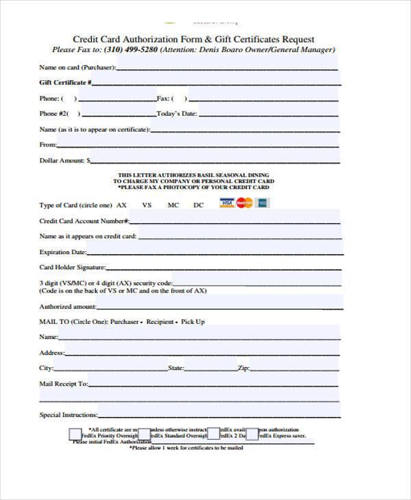 41 Sample Certificate Forms - gift voucher format sample