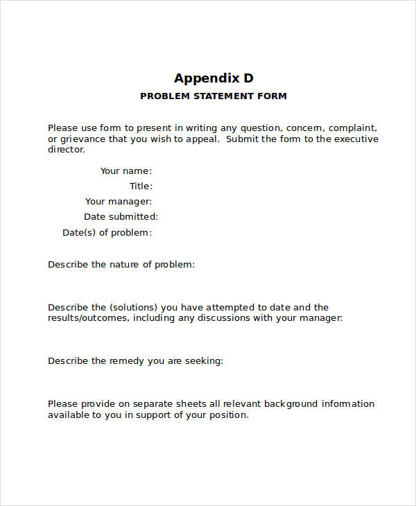 ... 38 Printable Statement Forms   Statement Form In Doc ...