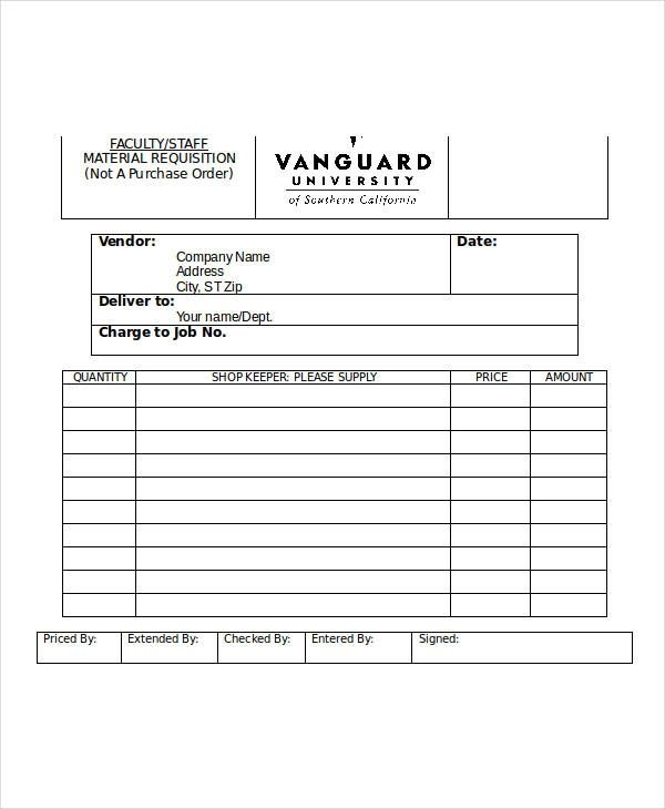 purchase order format doc