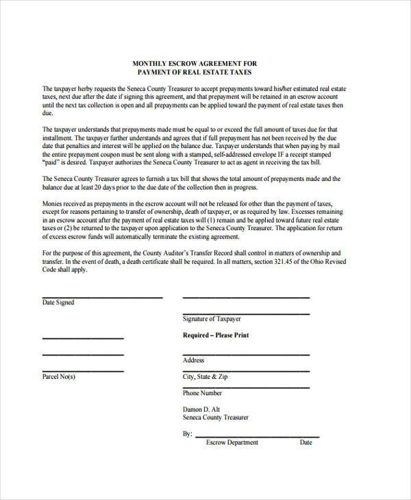 10+ Escrow Agreement Form Samples - Free Sample, Example Format Download
