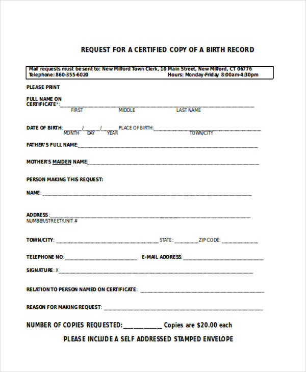 blank birth certificate forms