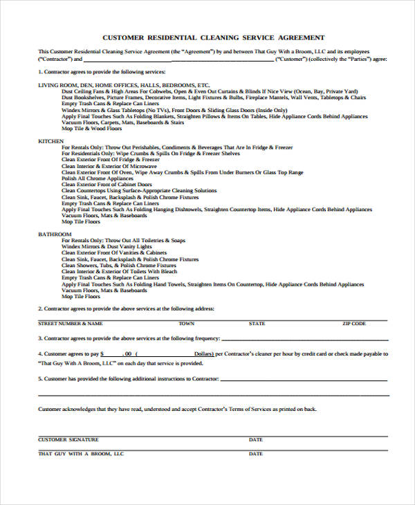sample cleaning service agreement radiovkm