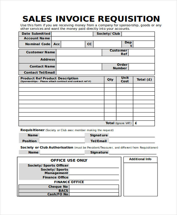 Invoice Forms in Word