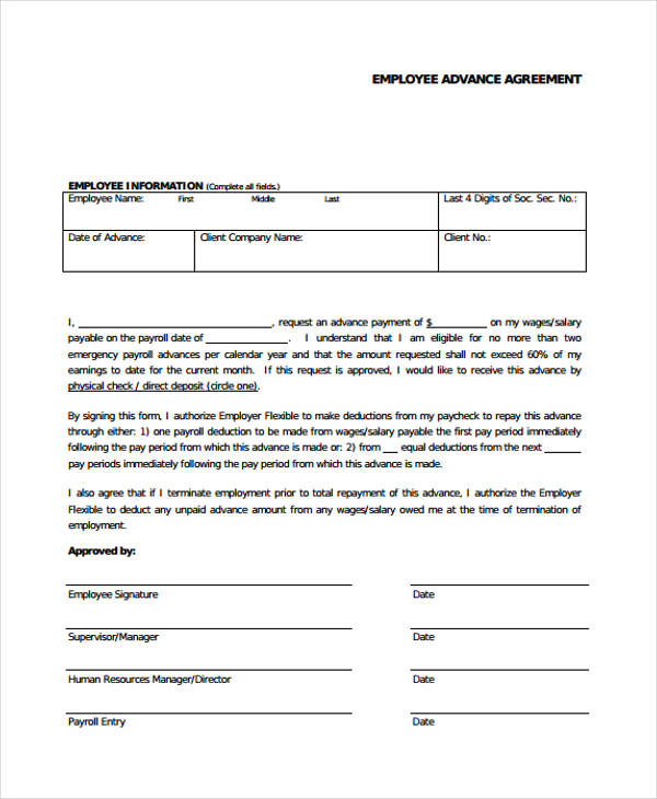 Loan Agreement Form Example - 65+ Free Documents in Word, PDF - loan contract sample