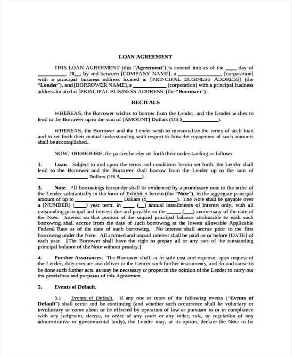 Business Agreement Form Template - sample business agreements