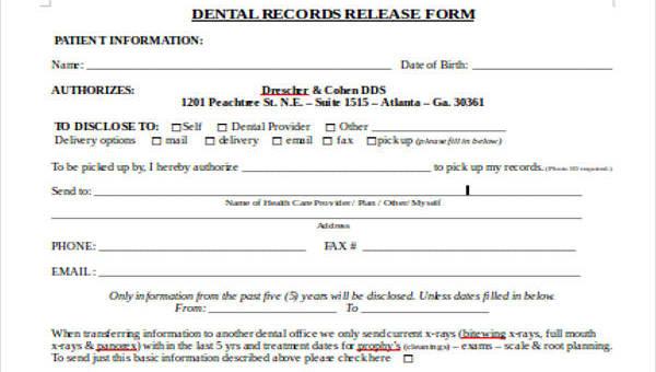 Patient Release Form