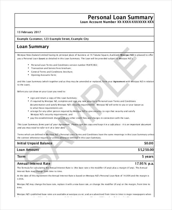 Free Loan Agreement Form - yearly contract template