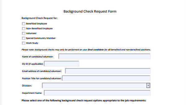 Request Form Template