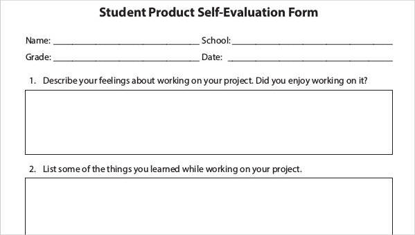 21 Self-Evaluation Forms in PDF