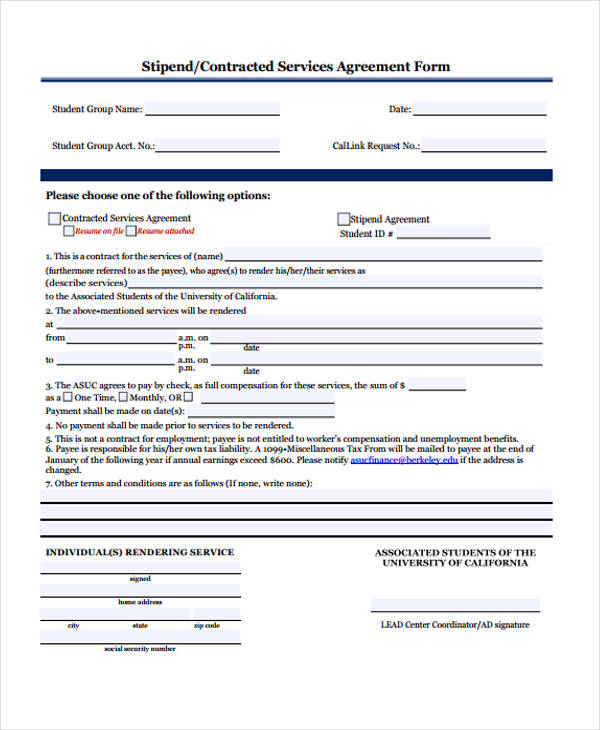Business Agreement Form Template - business service agreement