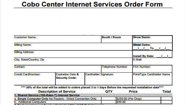 28+ Service Order Form Templates