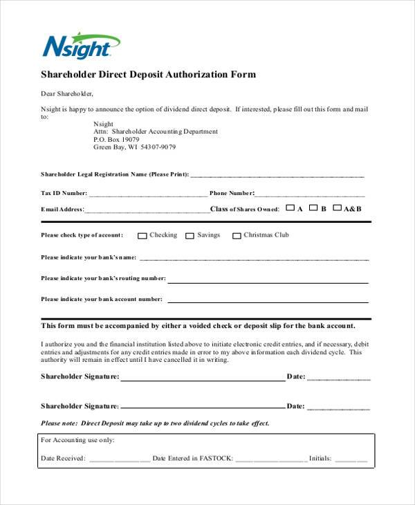 how to fill out a direct deposit form - Onwebioinnovate - direct deposit authorization form