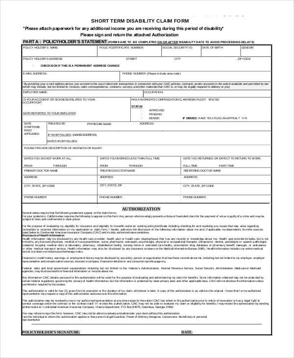 36 Claim Forms in PDF - claim form in pdf
