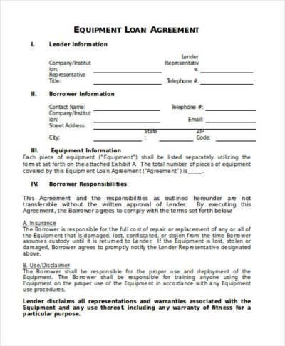 Loan Agreement Form Word