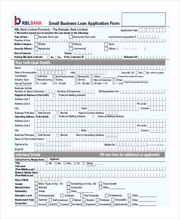 8+ Small Business Form - Free Sample, Example, Format Download - business form
