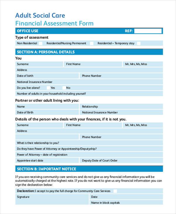 Sample Nursing Assessment Form - nursing assessment form
