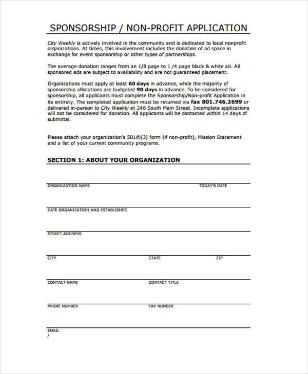 Basic Application Form Sample | Example Business Plan For A Gym
