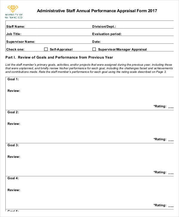 staff assessment form sample radiovkm - simple appraisal form