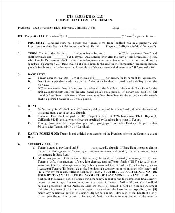 Sample Commercial Security Agreement Template Commercial Security