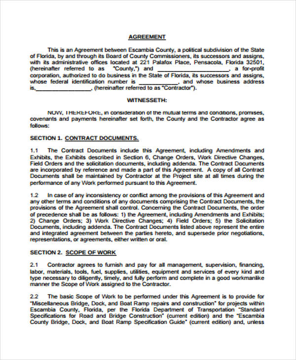 30 Sample Contract Agreement Forms - sample contract amendment template