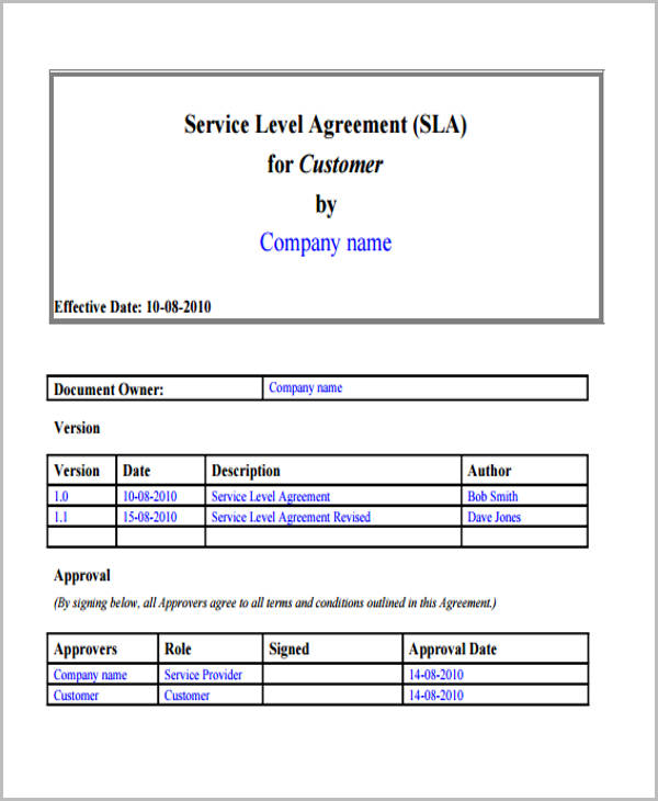 Service Agreement Form