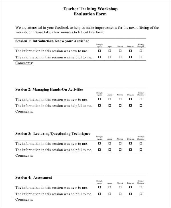 Feedback Form Format For Teachers  Valentine Gifts