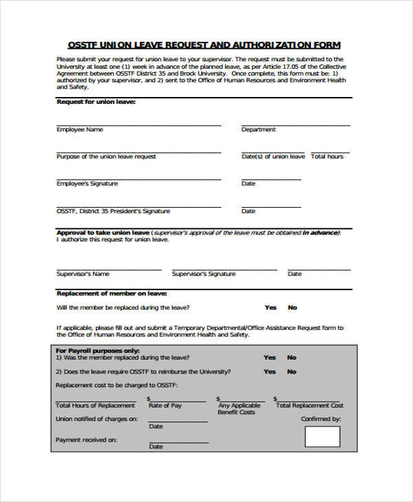 leave request template howtobillybullock - example of leave form