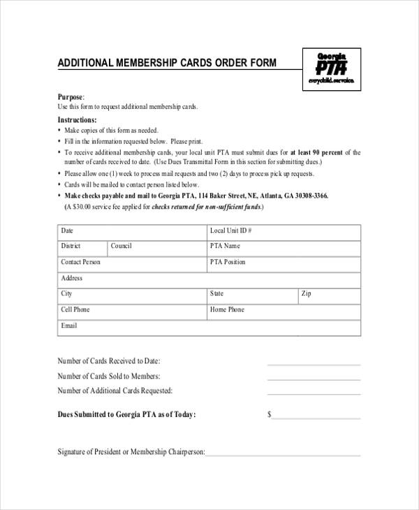 ... 8+ Sample Card Order Forms  Free Sample, Example Format Download   Document  Transmittal ...