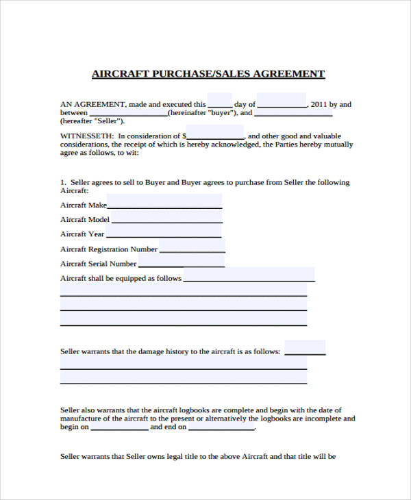 32+ Sales Agreement Form in PDF - purchase and sales agreement