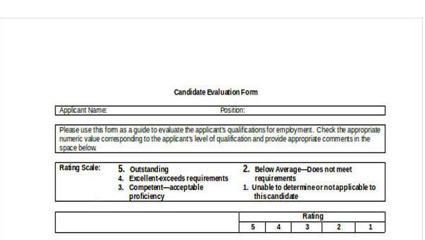 24+ Sample Interview Assessment Form
