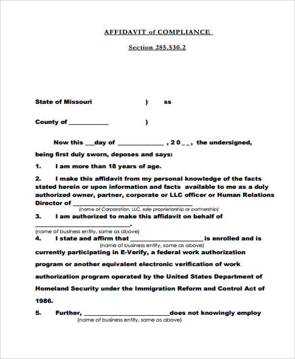 39 General Affidavit Forms in PDF - general affidavit form