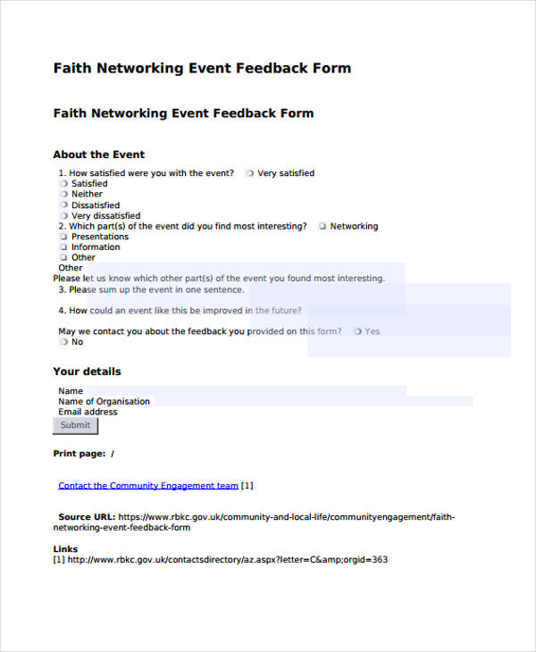 event feedback form efficiencyexperts - event feedback form in pdf