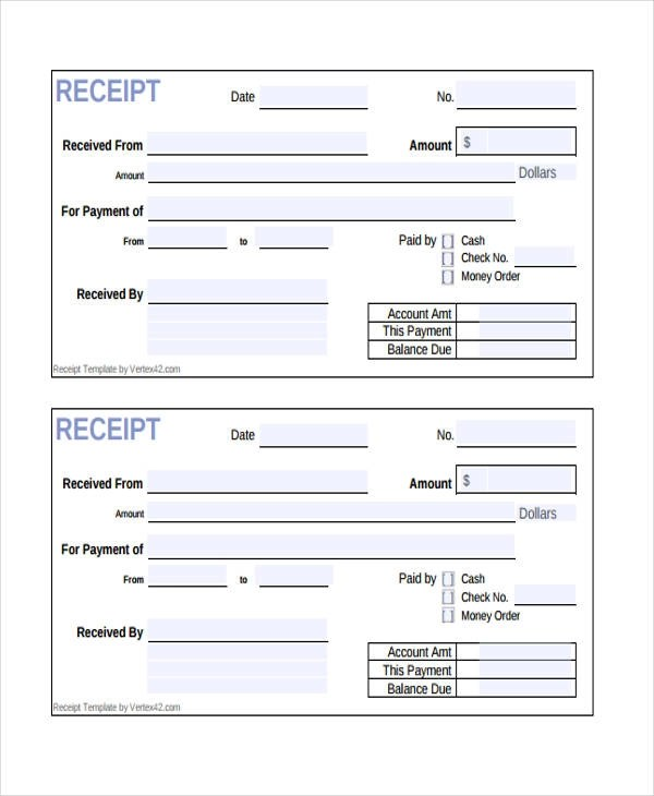 10+ Cash Receipt Form Sample - Free Sample, Example Format Download - Cash Recepit