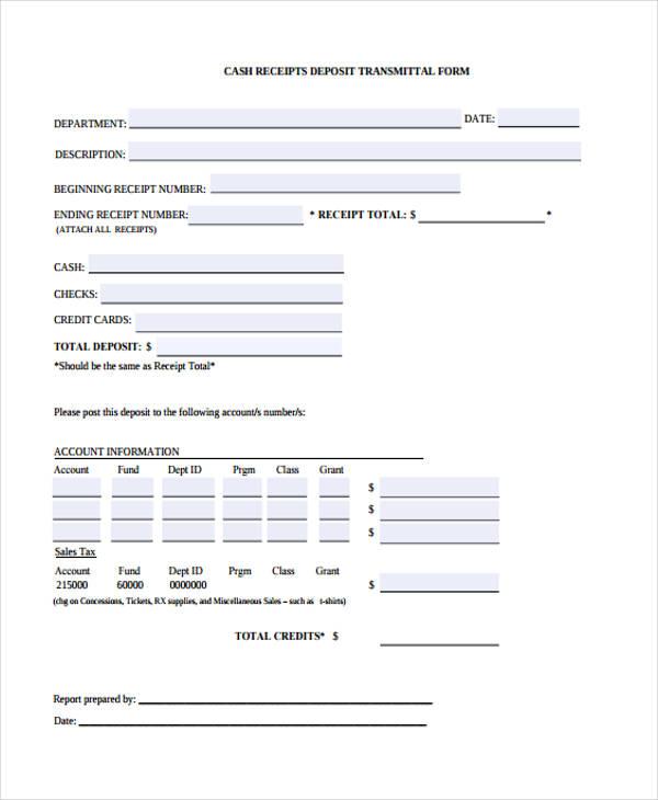 transmittal form – Transmittal Format