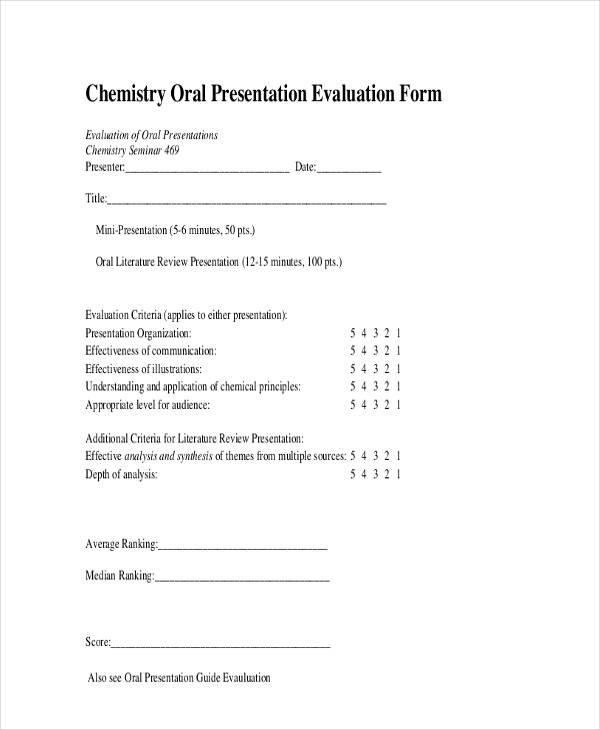 24+ Presentation Evaluation Form Example - presentation evaluation form in doc