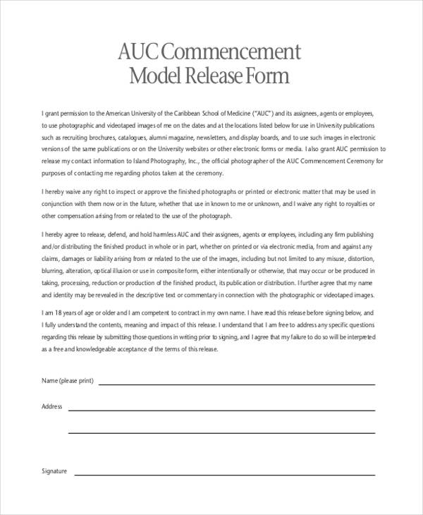 20+ Print Release Forms In PDF Contract Release Form