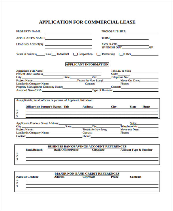 commercial business form - 28 images - commercial business form ppyr - commercial lease form
