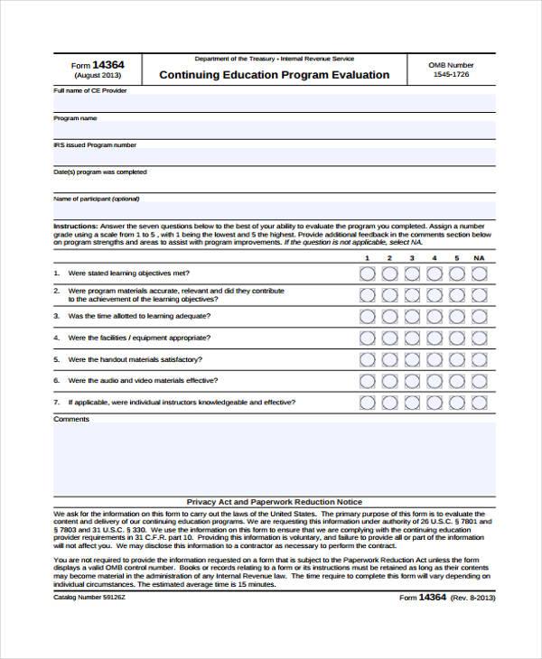 Amazing ... 32+ Free Event Evaluation Form   Program Evaluation Form ...