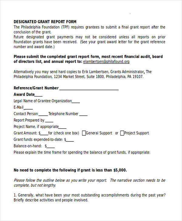 Grant Report Form Grant Report Form Efficiencyexperts Us 2014 – Grant Report Form