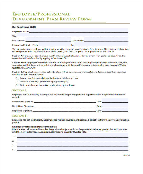 Employee Development Plan Annualperformancereview_Word Jpg Free - employee review