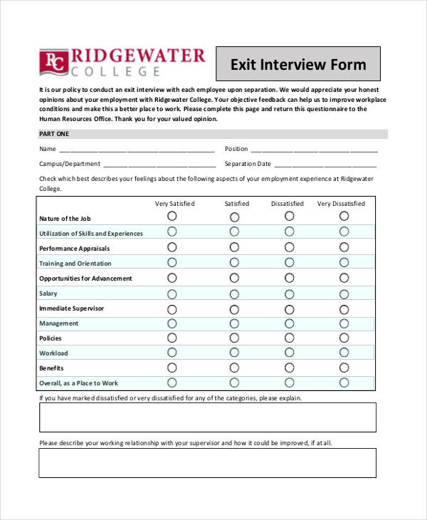 Hr Evaluation Form Plainresume Co