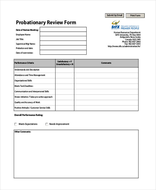 13+ Hr Evaluation Forms Hr Templates Free  Premium