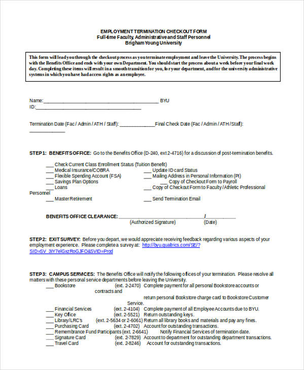 Employee Termination Form Sample Termination Letter Form Template - employee termination form
