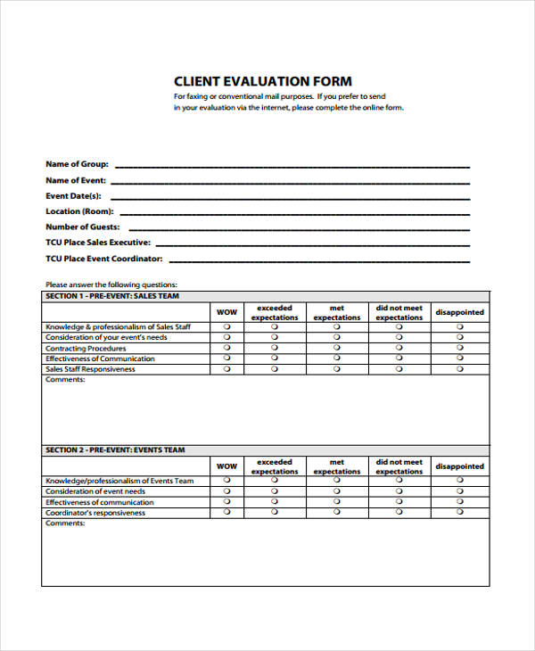 Client Feedback Form In Word client feedback form - teacheng